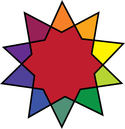 This Is A Creative Color Wheel With All The 12 Colors